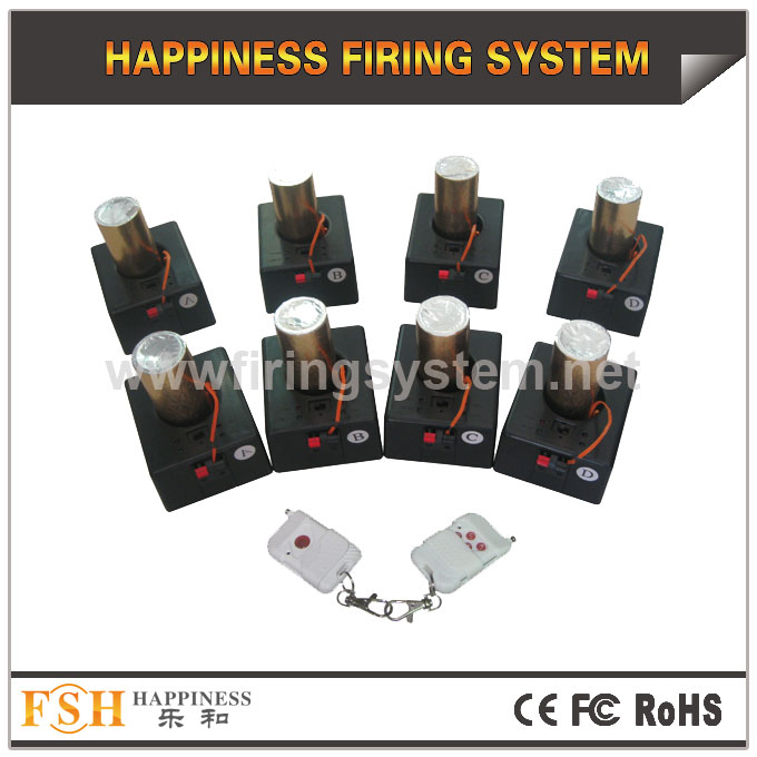 remote firing system 8 cues,special for stage fountains, with battery inside