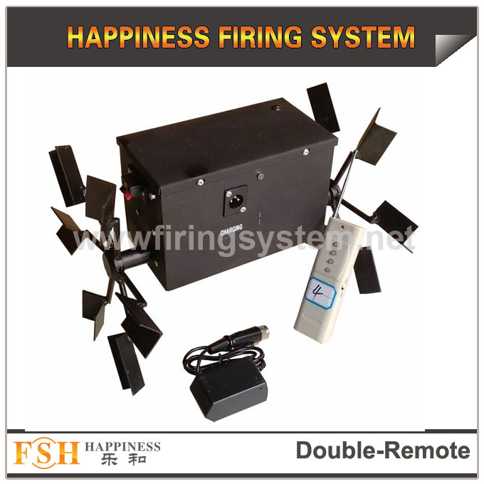 Double wheel remote firing system for stage fountains, fireworks remote system,rechargeable ,expandable