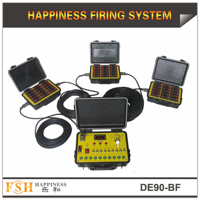 90 cues wire control fireworks firing system ,waterproof case,sequential fire function