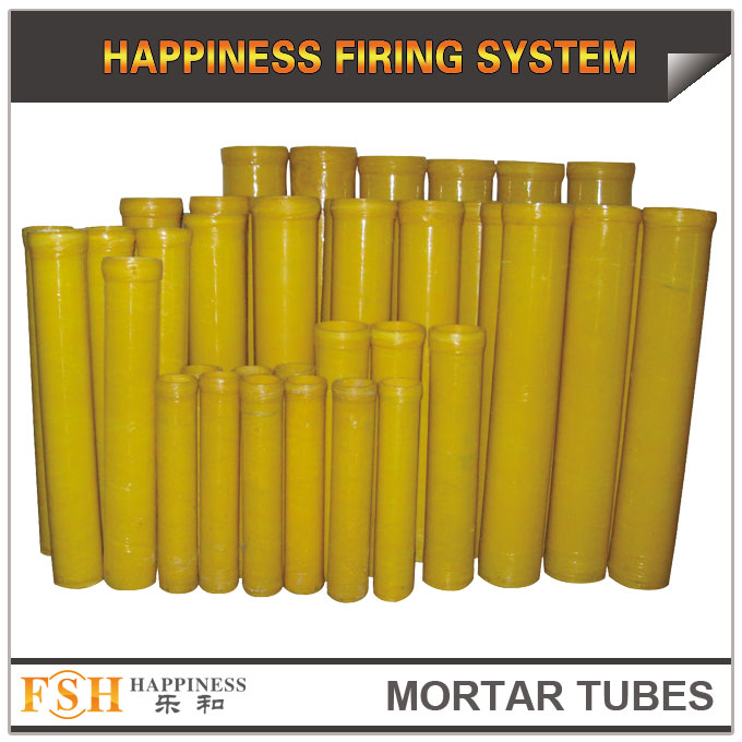 shells mortar tubes for fireworks, fiberglass mortars 1.75-16 inch