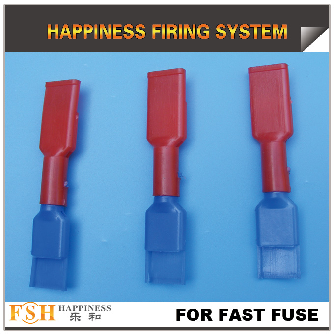connectors for fast fuse in fireworks display