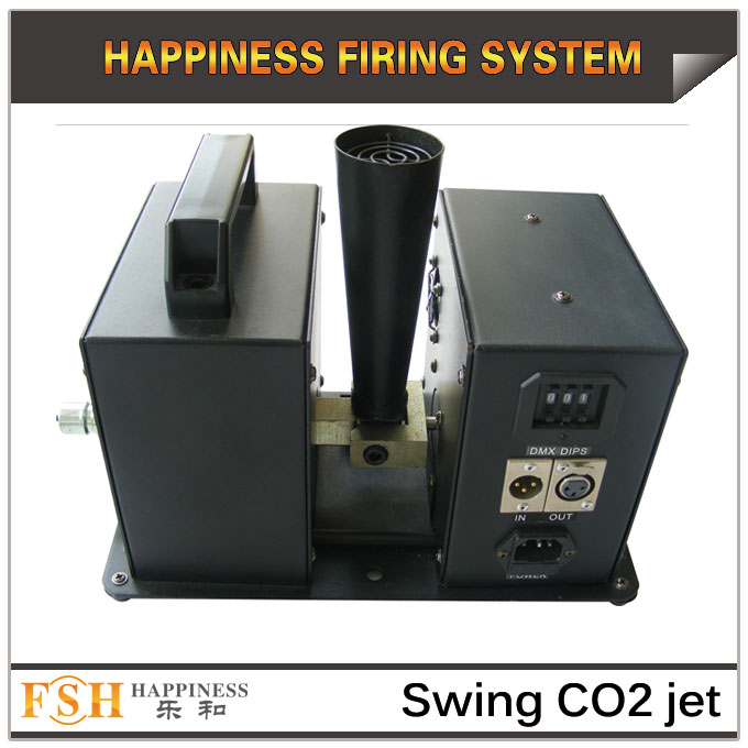 Swing co2 Jet for stage , DMX 512 control