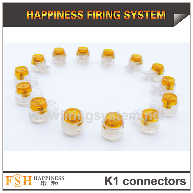 K1 connectors for cable in fireworks display, wire connectors