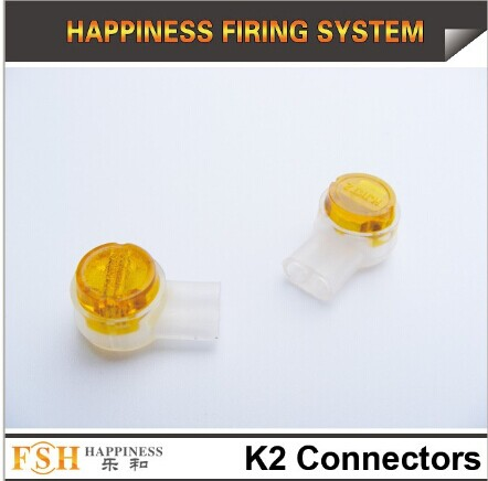 K 2 wire connectors for fireworks display, ematches connecting