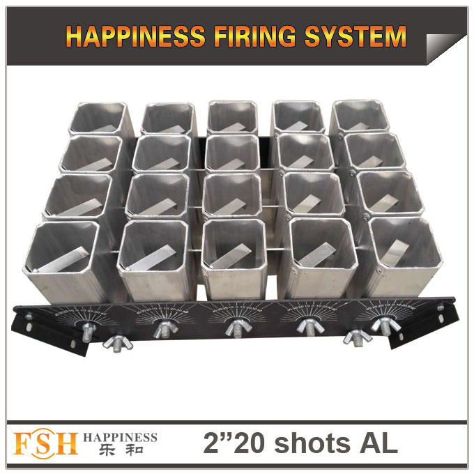 2 inch 20 shots AL racks for fireworks display , mortar tubes rack ,single shot