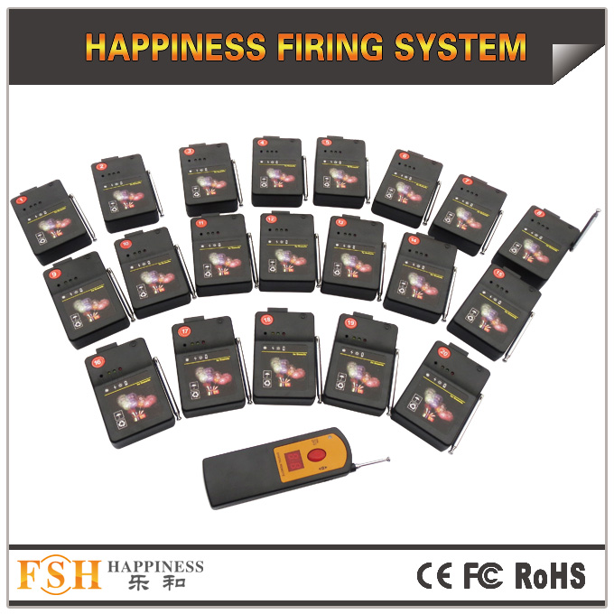 20 cues fireworks firing system,digital remote,adjust sequential time,fire all ,step fire for talon and ematch