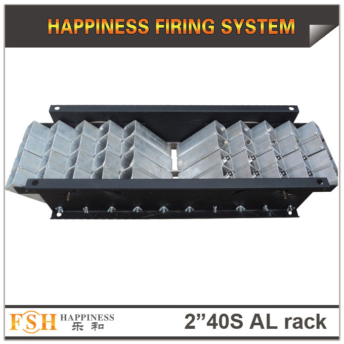 2 inch 40 shots AL racks for fireworks display , mortar tubes rack ,single shot