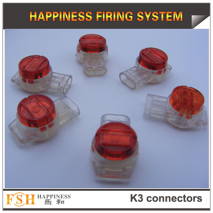K3 connectors for cable in fireworks display, wire connectors