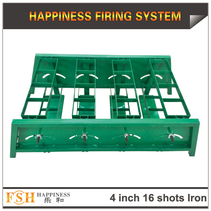 4 inch 16 shots Iron adjust angel racks for fireworks display , mortar tubes rack