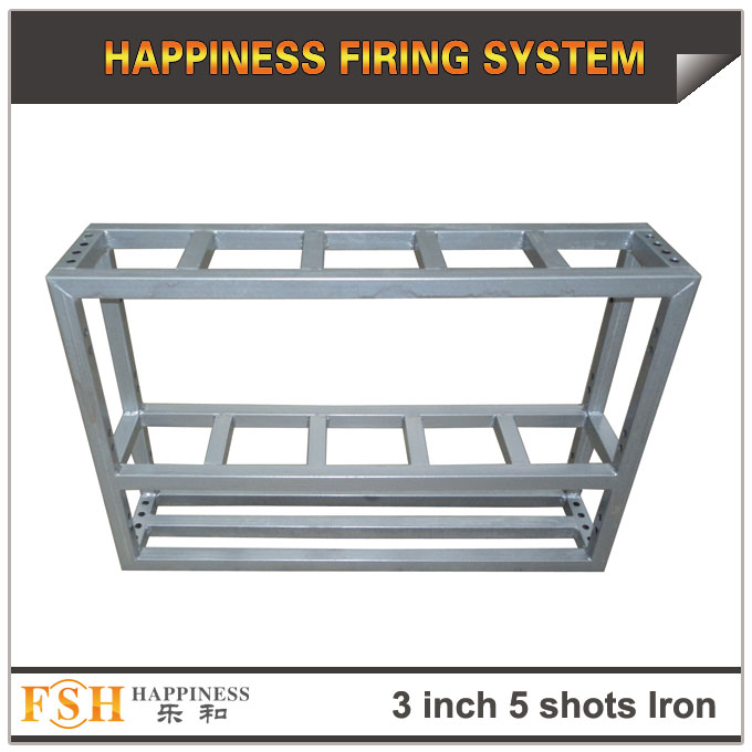 3 inch 5 shots Iron rack for fireworks display , mortar tubes rack