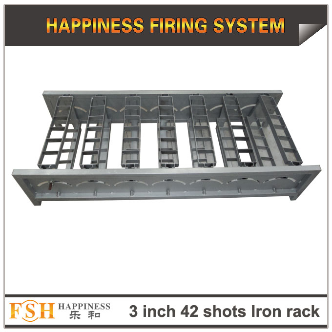 3 inch 42 shots Iron racks for fireworks display , mortar tubes rack