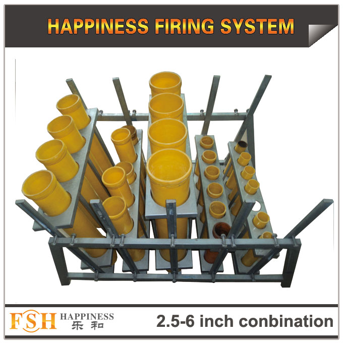 2.5 ,3,4,5,6 inch conbination racks for fireworks display , mortar tubes rack