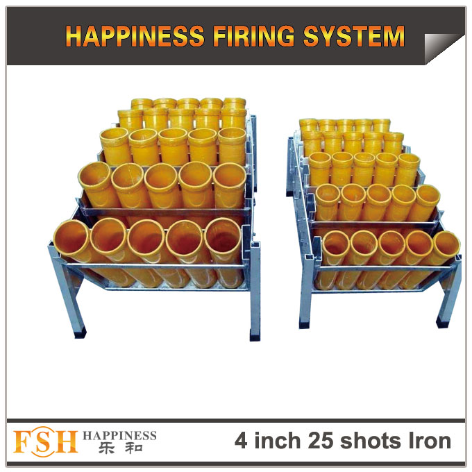 4 inch 25 shots Iron racks for fireworks display , mortar tubes rack