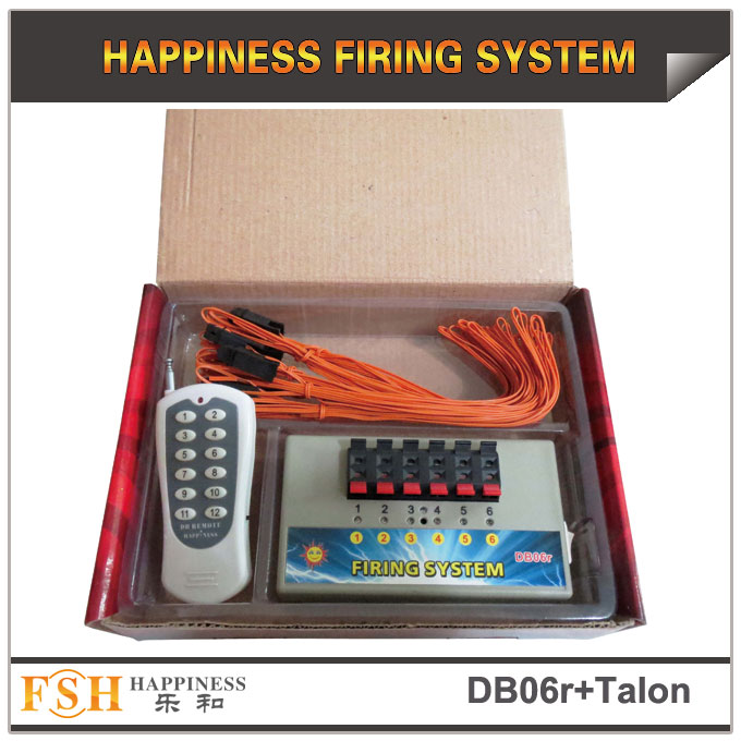 DB06r remote firing system with 6pcs 3M talon igniters for a package, for consumer fireworks display, gift for your fireworks clients