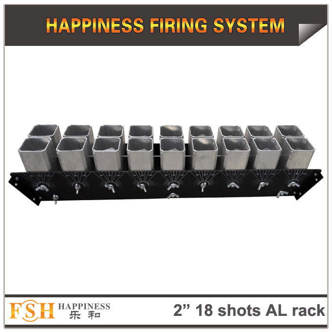 2 inch 18 shots AL racks for fireworks display , mortar tubes rack ,single shot