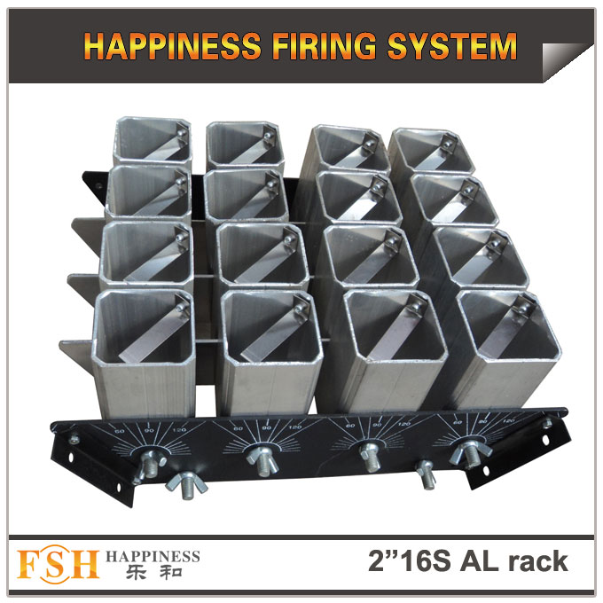 2 inch 16 shots AL racks for fireworks display , mortar tubes rack ,single shot