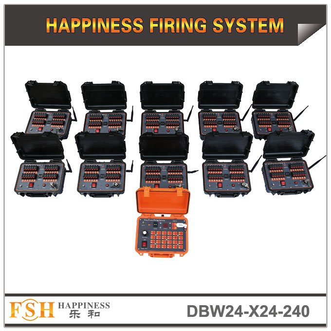240 cues special effects firing system for stage fountains or single shot wire control fireworks firing system