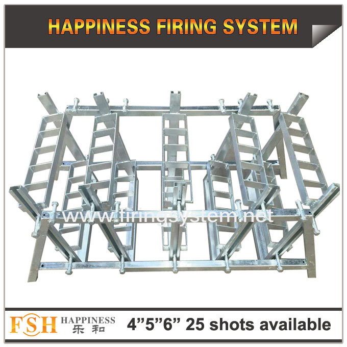 4,5,6 inch 25 shots AL racks for fireworks display , mortar tubes rack ,single shot