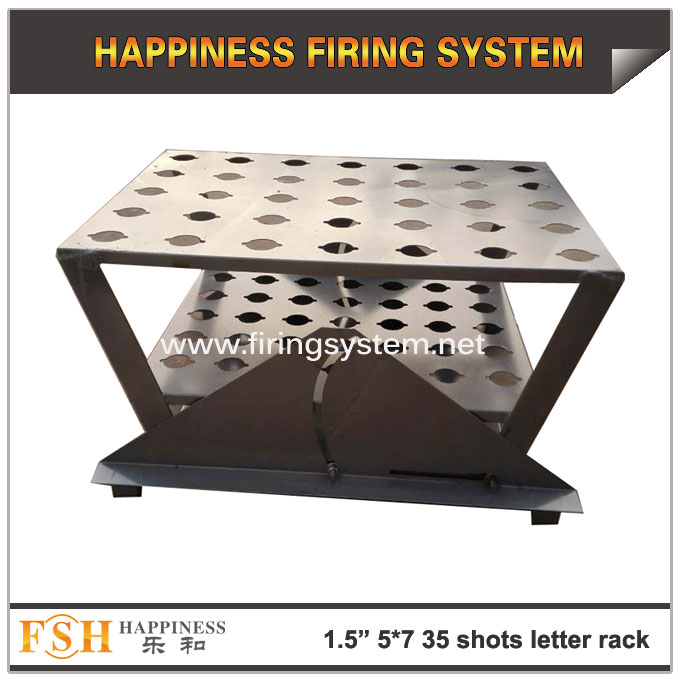 New product 1.5inch (hole diameter 42mm) 5*7(35) shots Single shots fireworks pyrotechnic letter display racks - 副本