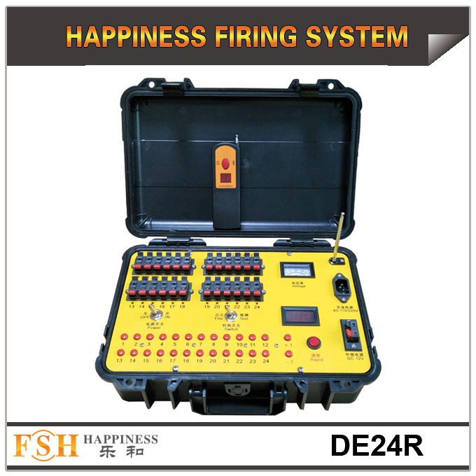 2019 new pdocuts 24 cues fireworks firing system both for remote and hand control,for talon and ematches in promotion