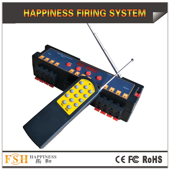 Fireworks firing system,2019 New 12 cues programmable remote system, set different time for each channel
