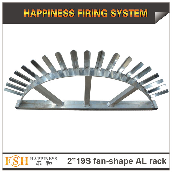 2 inch 19 shots fan shape AL racks for roman candles