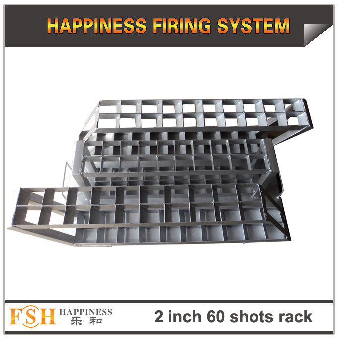 2 inch 60 shots Iron racks for fireworks display , mortar tubes rack ,single shot