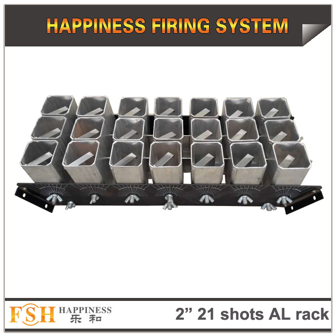 2 inch 21 shots AL racks for fireworks display , mortar tubes rack ,single shot