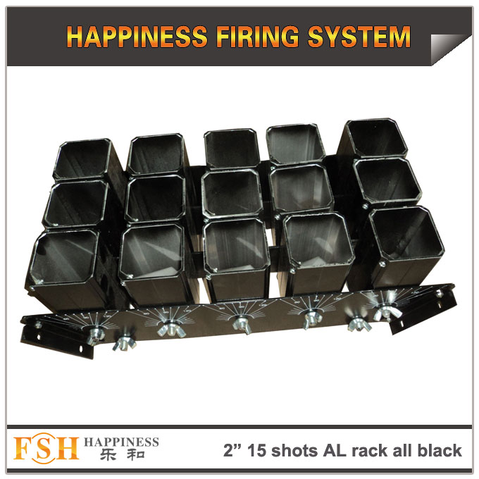 2 inch 15 shots AL racks all black for fireworks display , mortar tubes rack ,single shot
