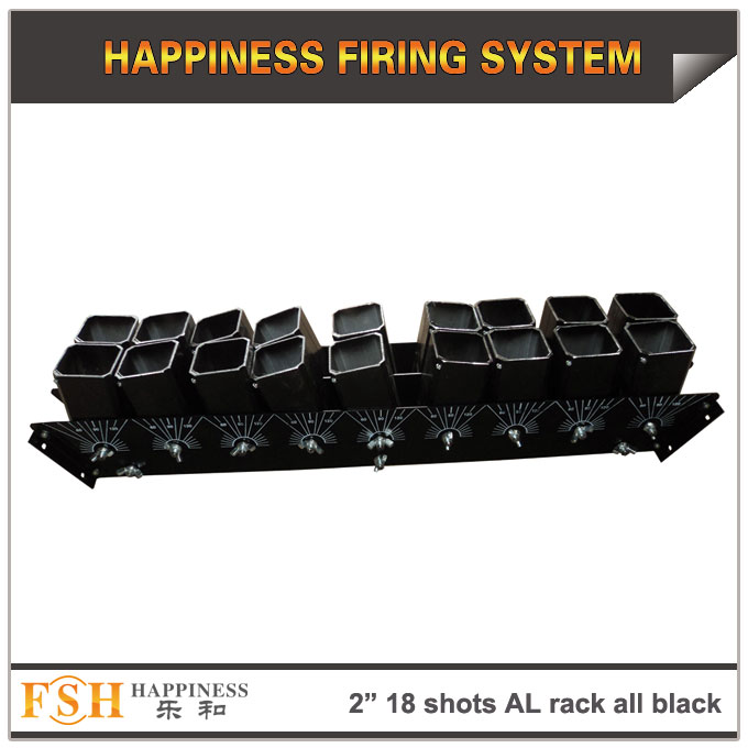 2 inch 18 shots AL racks all black for fireworks display , mortar tubes rack ,single shot
