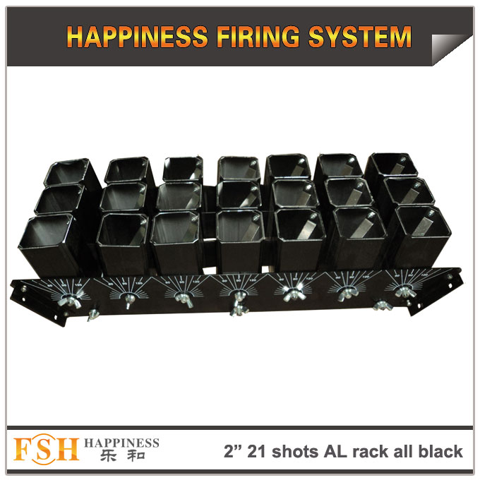 2 inch 21 shots AL racks all black for fireworks display , mortar tubes rack ,single shot