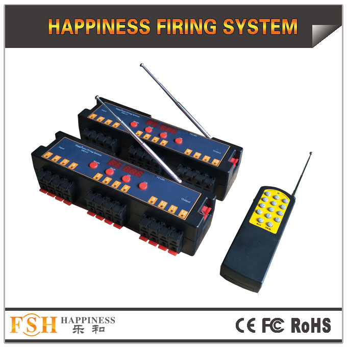 Fireworks firing system New 24 cues programmable remote system, set different time for each channel  - 副本